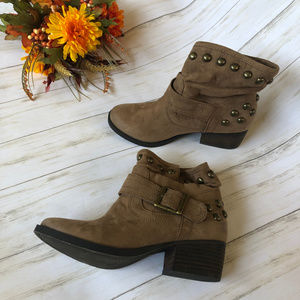 BP Heeled Ankle Booties with Buckle